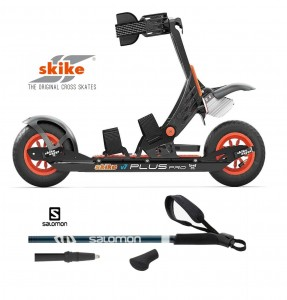 skike V7 PLUS PRO  z kijkami Salomon Escape